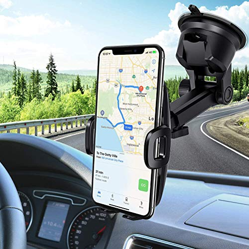 Cell Phone Mount Holder On Car Dashboard Galaxy Note 10 Plus//S9+//S8 and Most Brand Smart Phone with 360-Degree Rota Windshield Compatible with iPhone 11 Pro//X Max//XR//XS//X//8 plus//8//7